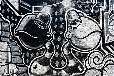 iCanvas Street Art Two Heads Are Better Than One Graphic Art on Wrapped Canvas