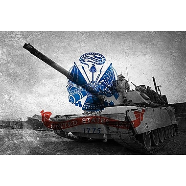 iCanvas Flags Army Abrams Tank Graphic Art on Wrapped Canvas; 40'' H x 60'' W x 1.5'' D
