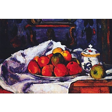 iCanvas 'Still Life Bowl of Apples' by Paul Cezanne Painting Print on Wrapped Canvas