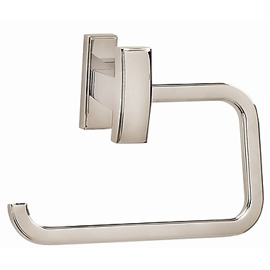 Alno Arch Wall Mounted Single Post Toilet Paper Holder; Satin Nickel