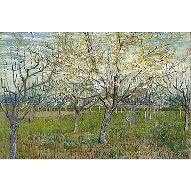 iCanvas 'The Pink Orchard' by Vincent Van Gogh Painting Print on Wrapped Canvas