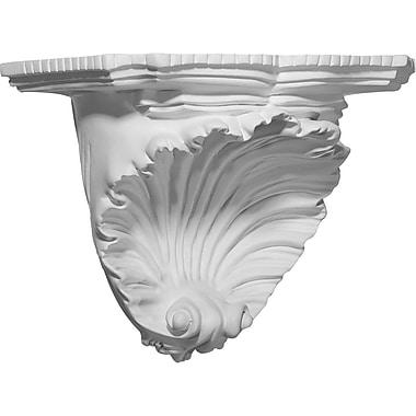 Ekena Millwork Shell 7 3/8''H x 10 3/8''W x 6''D Decorative Shelf