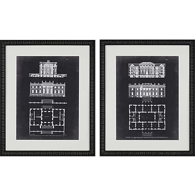 Paragon Graphic Buildings II by Gibbs 2 Piece Framed Graphic Art Set