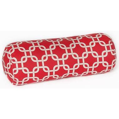 OC Fun Saks Indoor/Outdoor Bolster Pillow; Red