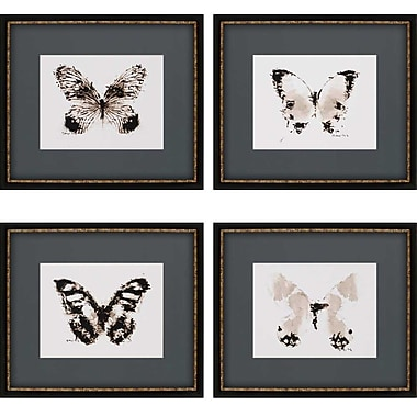 Paragon Inked Butterflies Giclee by Sayilir 4 Piece Framed Graphic Art Set