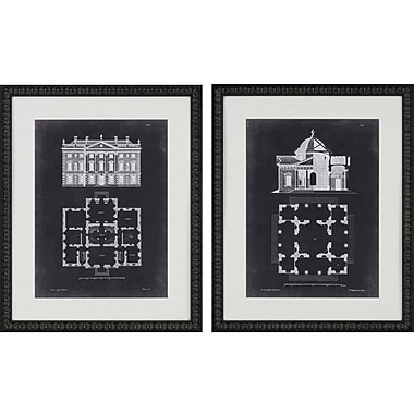 Paragon Graphic Buildings I by Gibbs 2 Piece Framed Graphic Art Set