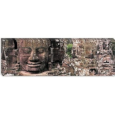 iCanvas Panoramic Stone Faces Bayon Angkor Siem Reap Cambodia Photographic Print on Wrapped Canvas