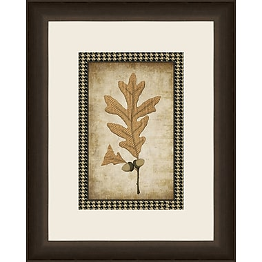 Melissa Van Hise Houndstooth Leaves VI Framed Graphic Art