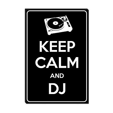 iCanvas Keep Calm and Dj Graphic Art on Canvas; 60'' H x 40'' W x 1.5'' D
