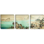 iCanvas 'Good Omen' by Yamamoto Shunkyo Painting Print on Canvas; 16'' H x 48'' W x 0.75'' D