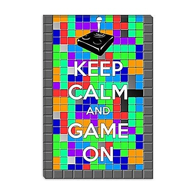 iCanvas Keep Calm and Game on Graphic Art on Canvas; 18'' H x 12'' W x 1.5'' D