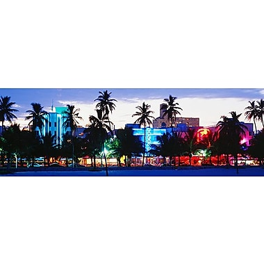 iCanvas Panoramic South Beach Miami Beach Florida Photographic Print on Wrapped Canvas