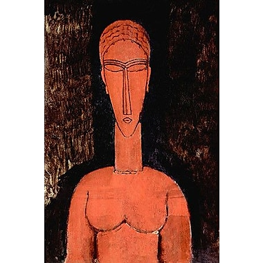 iCanvas 'The Red Bust' by Amedeo Modigliani Painting Print on Canvas; 26'' H x 18'' W x 1.5'' D