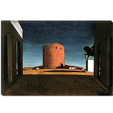 iCanvas ''The Red Tower'' by Giorgio de Chirico Painting Print on Wrapped Canvas