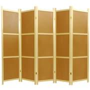 Oriental Furniture 72'' x 70'' Cork Board 5 Panel Room Divider