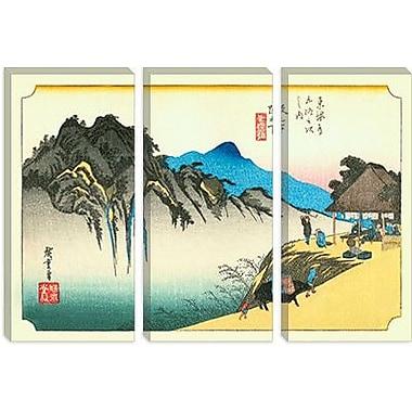 iCanvas 'Sakanoshita' by Utagawa Hiroshige l Painting Print on Canvas; 26'' H x 40'' W x 0.75'' D