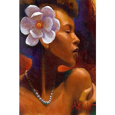 iCanvas ''Woman w/ Pearl Neclace'' by Keith Mallett Painting Print on Wrapped Canvas