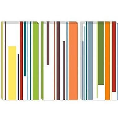 iCanvas Striped Pastel Piano Keys Graphic Art on Canvas; 8'' H x 12'' W x 0.75'' D