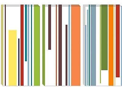 iCanvas Striped Pastel Piano Keys Graphic Art on Canvas; 26'' H x 40'' W x 1.5'' D
