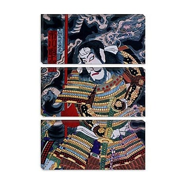 iCanvas Japanese Samurai w/ Katana Woodblock Painting Print on Canvas; 12'' H x 8'' W x 0.75'' D