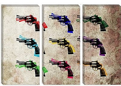 iCanvas 'Nine Revolvers' by Michael Tompsett Graphic Art on Canvas; 12'' H x 18'' W x 1.5'' D
