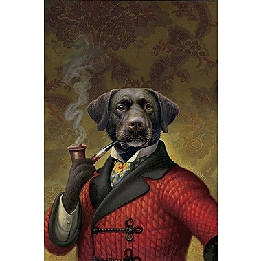 iCanvas ''The Red Beret (Dog)'' Canvas Wall Art by Dan Craig; 60'' H x 40'' W x 1.5'' D