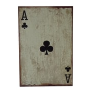 Cheungs Wooden Ace of Clubs Graphic Art Plaque