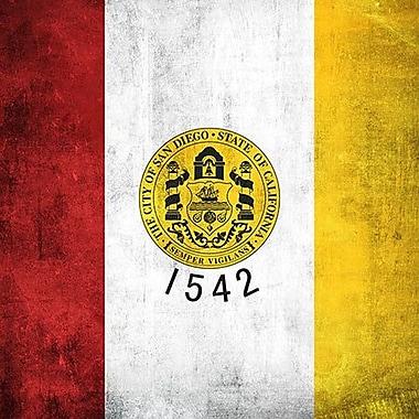 iCanvas San Diego Flag, Grunge Graphic Art on Canvas; 18'' H x 18'' W x 1.5'' D
