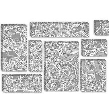 iCanvas 'London Map V' by Michael Thompsett Graphic Art on Canvas; 12'' H x 18'' W x 1.5'' D