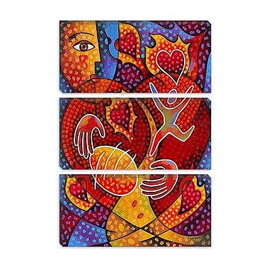 iCanvas 'Hearts on Fire' by Jim Dryden Painting Print on Canvas; 12'' H x 8'' W x 0.75'' D