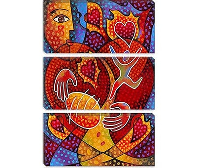 iCanvas 'Hearts on Fire' by Jim Dryden Painting Print on Canvas; 18'' H x 12'' W x 0.75'' D