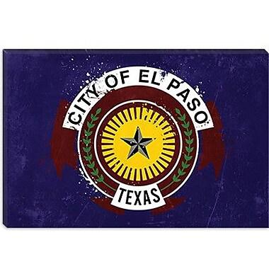iCanvas El Paso Flag, Splatters Graphic Art on Canvas; 26'' H x 40'' W x 1.5'' D