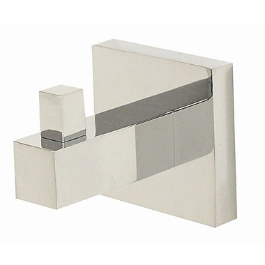 Alno Contemporary II Wall Mounted Robe Hook; Polished Chrome