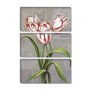 iCanvas 'Red-Striped Tulips' by John Zaccheo Graphic Art on Canvas; 40'' H x 26'' W x 1.5'' D