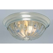 Volume Lighting 2-Light Ceiling Fixture Flush Mount; Brushed Nickel