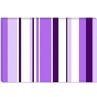 iCanvas Irises Striped Graphic Art on Canvas; 40'' H x 60'' W x 1.5'' D