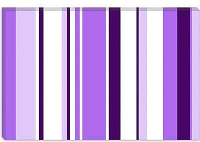 iCanvas Irises Striped Graphic Art on Canvas; 12'' H x 18'' W x 0.75'' D