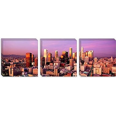 iCanvas Panoramic Sunset Skyline Los Angeles, California Photographic Print on Wrapped Canvas