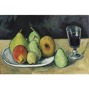 iCanvas 'Verre Et Poires 1879-1880' by Paul Cezanne Painting Print on Wrapped Canvas