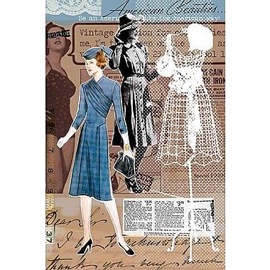 iCanvas 'Vintage Fashion #1' by Luz Graphics Graphic Art on Canvas; 40'' H x 26'' W x 0.75'' D