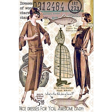 iCanvas 'Vintage Fashion #2' by Luz Graphics Graphic Art on Canvas; 26'' H x 18'' W x 0.75'' D