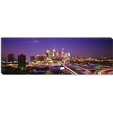 iCanvas Panoramic Twilight, Minneapolis, Minnesota Photographic Print on Wrapped Canvas