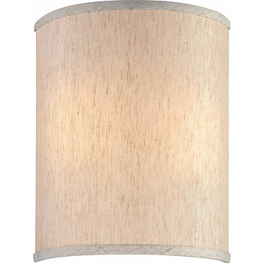 Volume Lighting 9'' Linen Drum Wall Sconce Shade