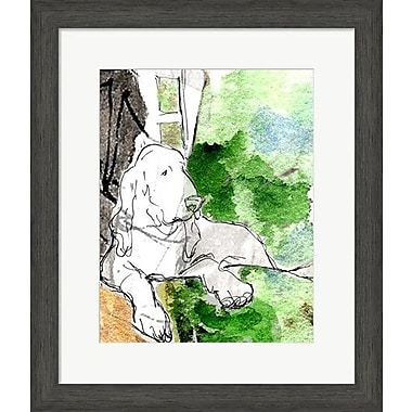 Evive Designs Hound Dog by Holly Mcgee Framed Painting Print