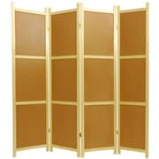 Oriental Furniture 72'' x 56'' Cork Board 4 Panel Room Divider