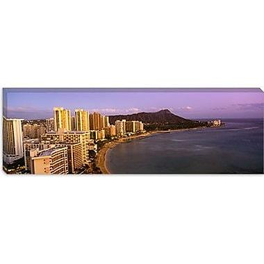 iCanvas Panoramic Waterfront at Waikiki Beach, Honolulu, Hawaii Photographic Print on Canvas