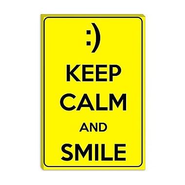 iCanvas Keep Calm and Smile Textual Art on Canvas; 12'' H x 8'' W x 0.75'' D