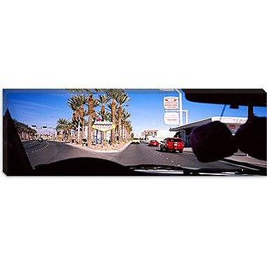 iCanvas Panoramic Traffic Entering Downtown, Las Vegas, Nevada Photographic Print on Wrapped Canvas