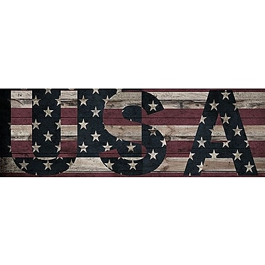 iCanvas Flags U.S.A. Stars Wood Boards Graphic Art on Wrapped Canvas; 12'' H x 36'' W x 1.5'' D