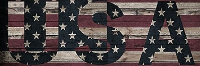 iCanvas Flags U.S.A. Stars Wood Boards Graphic Art on Wrapped Canvas; 12'' H x 36'' W x 0.75'' D